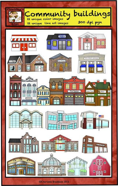 Community buildings clipart free clip library download Pin by Amanda Marie on education | Community helpers, Building ... clip library download