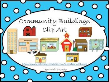 Community buildings clipart free clipart transparent Community Buildings Clipart Worksheets & Teaching Resources | TpT clipart transparent