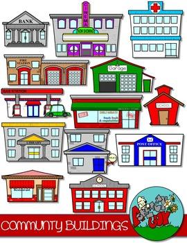 Community buildings clipart free clipart library stock Community Buildings Clip art | TPT clipart | Community building ... clipart library stock
