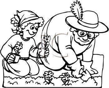 Community helper gardener clipart black and white png freeuse Garden Clipart Black And White - The Interior Designs   Cartoon ... png freeuse