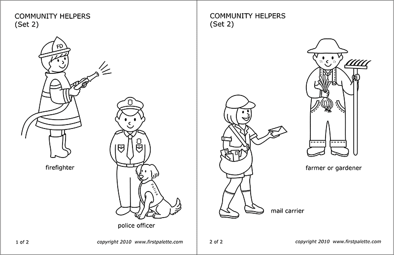 Community helper gardener clipart black and white clipart royalty free download Community Helpers & People\'s Jobs | Free Printable Templates ... clipart royalty free download