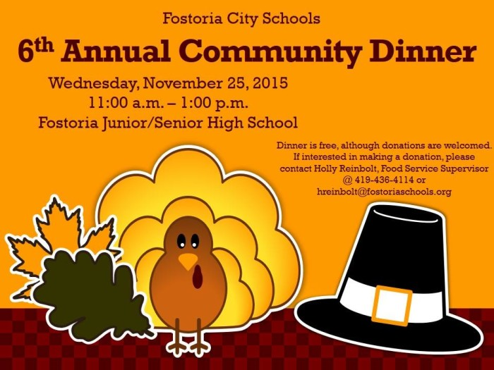 Community thanksgiving meal clipart png free stock Sixth Annual Community Thanksgiving Dinner/Fostoria png free stock