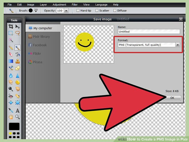 Como hacer una imagen clipart en pixlr jpg black and white download 2 Easy Ways to Create a PNG Image in Pixlr (with Pictures) jpg black and white download