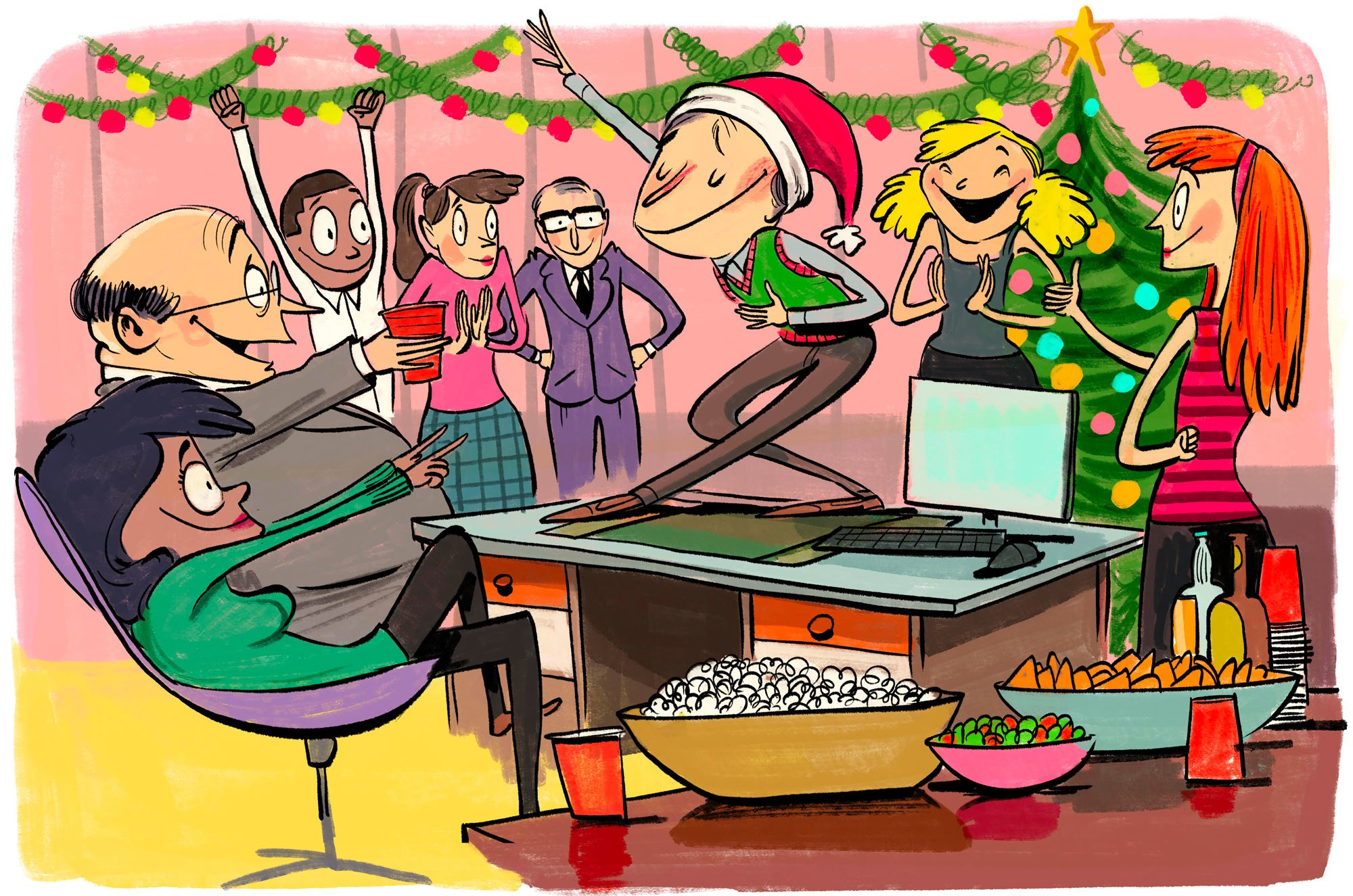 Company holiday party clipart graphic stock The 9 Cardinal Rules of the Office Holiday Party | GQ graphic stock