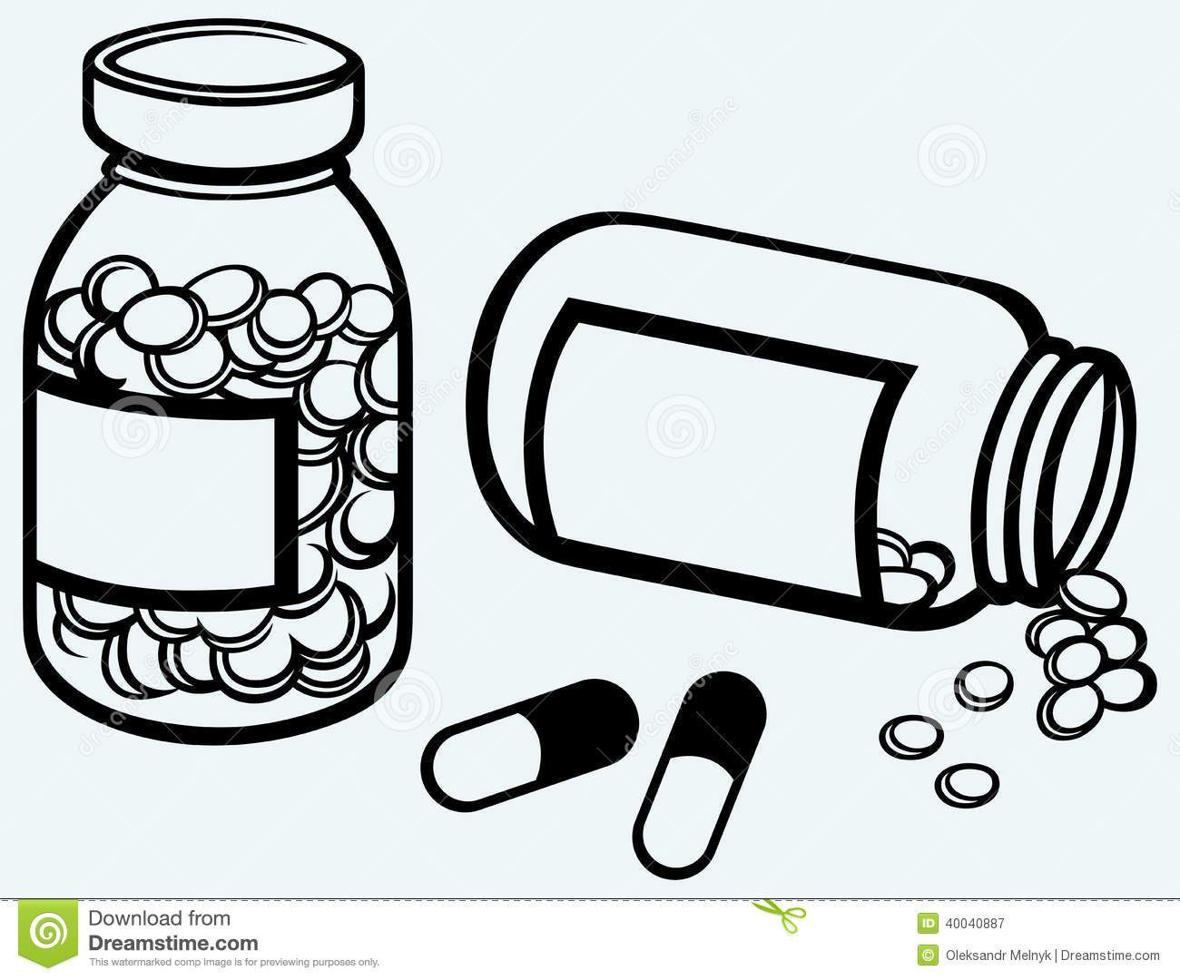 Compare 2 products clipart black and white image black and white Medicine tablets clipart black and white 2 » Clipart Portal image black and white