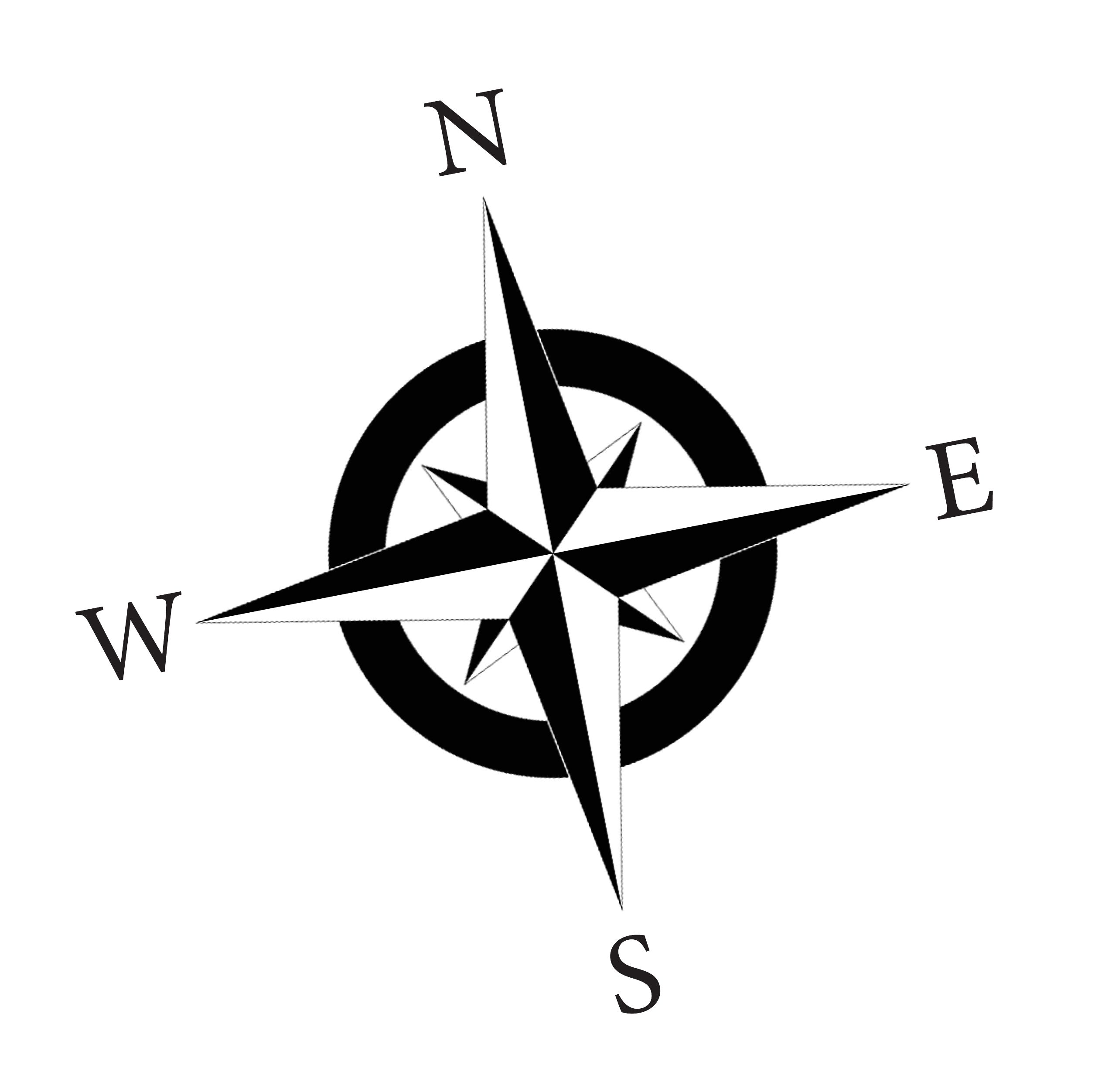 Compass rose pictures clipart black and white stock Pin by Kaila Lusson on Tattoos | Simple compass tattoo, Simple ... black and white stock