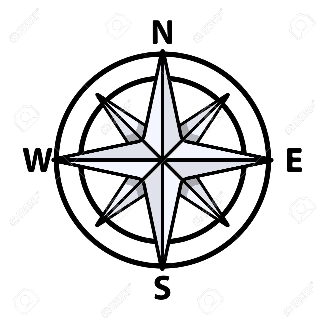 Compass clipart black and white clipart transparent stock Compass Clipart Black And White Free Best Transparent Png - AZPng clipart transparent stock