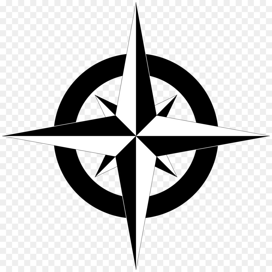Compass face clipart transparent Rose Black And White png download - 2400*2400 - Free Transparent ... transparent