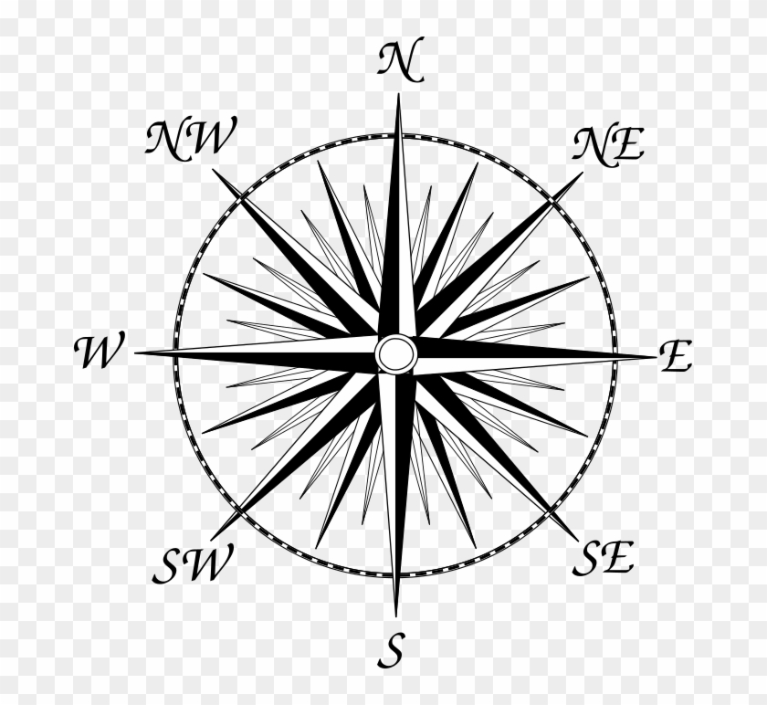 Compass points clipart vector free library Another Compass Rose, This One With All 32 Points For - 8 Point ... vector free library