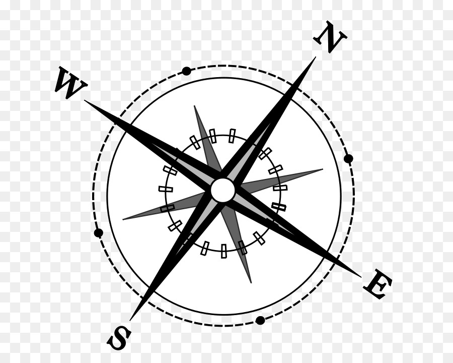 Compass points clipart graphic black and white Rose Black And White clipart - Compass, White, Circle, transparent ... graphic black and white