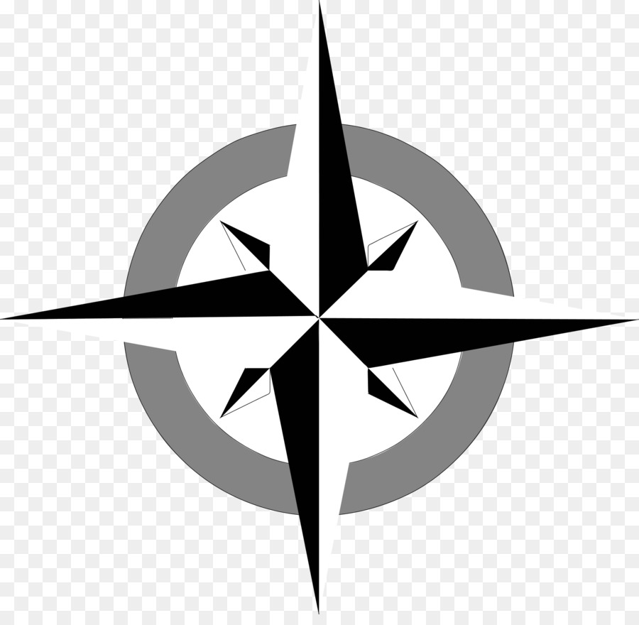 Compass points clipart banner royalty free Rose Black And White clipart - Compass, Map, Leaf, transparent clip art banner royalty free