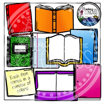 Composition notebook and folder clipart clipart transparent download Book Clipart | Notebooks & Folders & MORE clipart transparent download