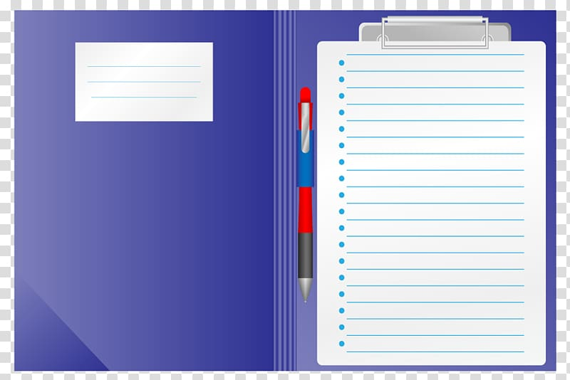 Composition notebook and folder clipart graphic black and white download Paper Notebook Page, Folder within a notebook pages transparent ... graphic black and white download
