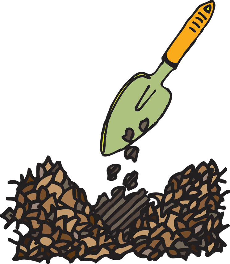 Green compost apple clipart vector black and white stock Compost Clipart (56+) Compost Clipart Backgrounds vector black and white stock