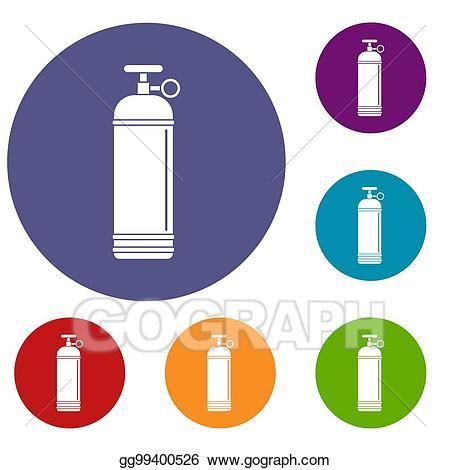 Compress clipart illustrator banner transparent library Stock Illustration - Compressed gas container icons set. Clipart ... banner transparent library