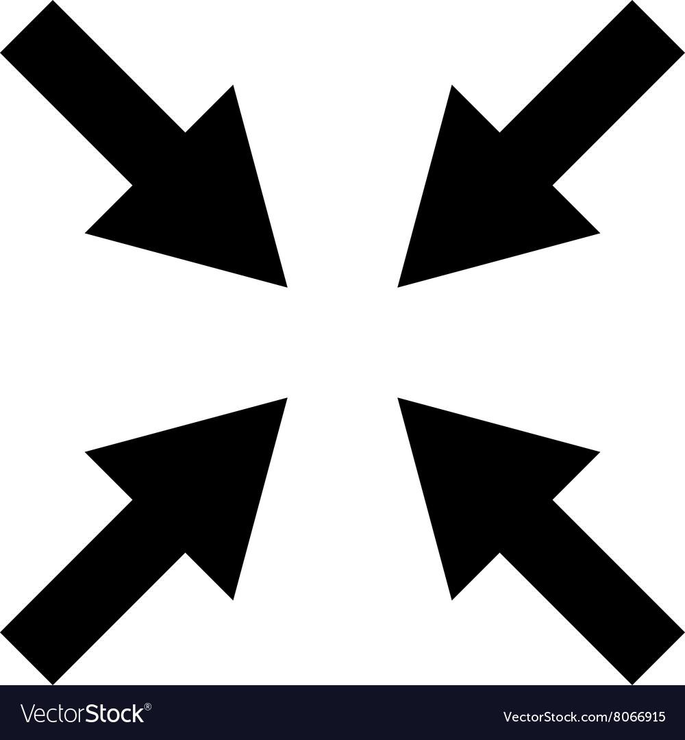 Compress clipart illustrator image royalty free Compress Arrows Flat Icon image royalty free