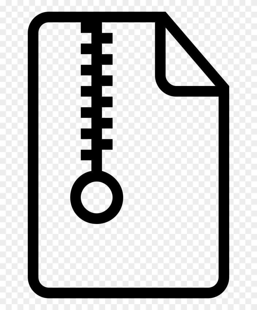 Compress file clipart banner transparent Clip Art Compressed File Outlined Symbol - Computer File - Png ... banner transparent