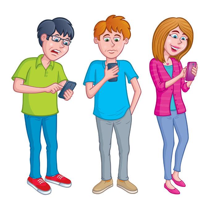 Compulsivve clipart vector free stock Compulsive Texting: The New Teen Danger - Inspire Conversation vector free stock