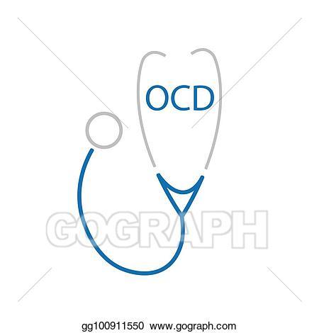 Compulsivve clipart banner black and white stock Vector Stock - Ocd (obsessive compulsive disorder) acronym and ... banner black and white stock