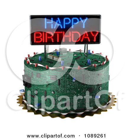 Computer birthday cake clipart royalty free library Royalty-Free (RF) Birthday Cake Clipart, Illustrations, Vector ... royalty free library