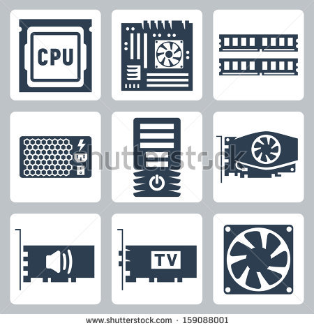 Computer case clipart. Free vector download for