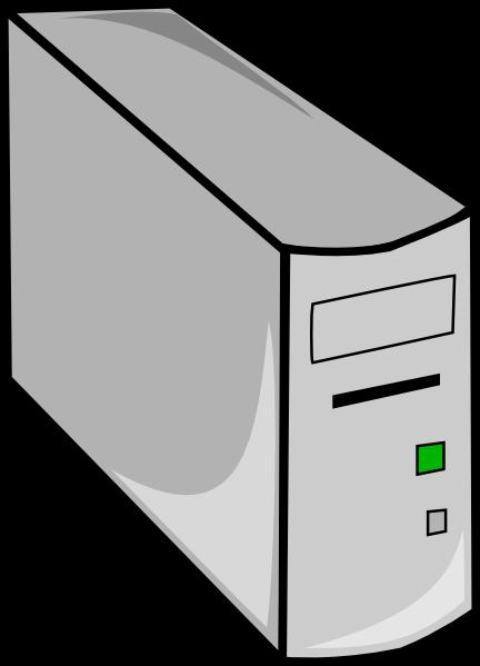 Tower desktop pc clip. Computer case clipart