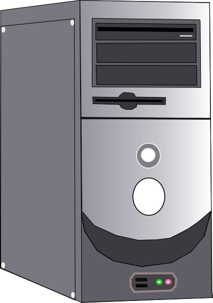 Clip art free vector. Computer case clipart