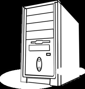 Cpu clipartfest clip art. Computer case clipart