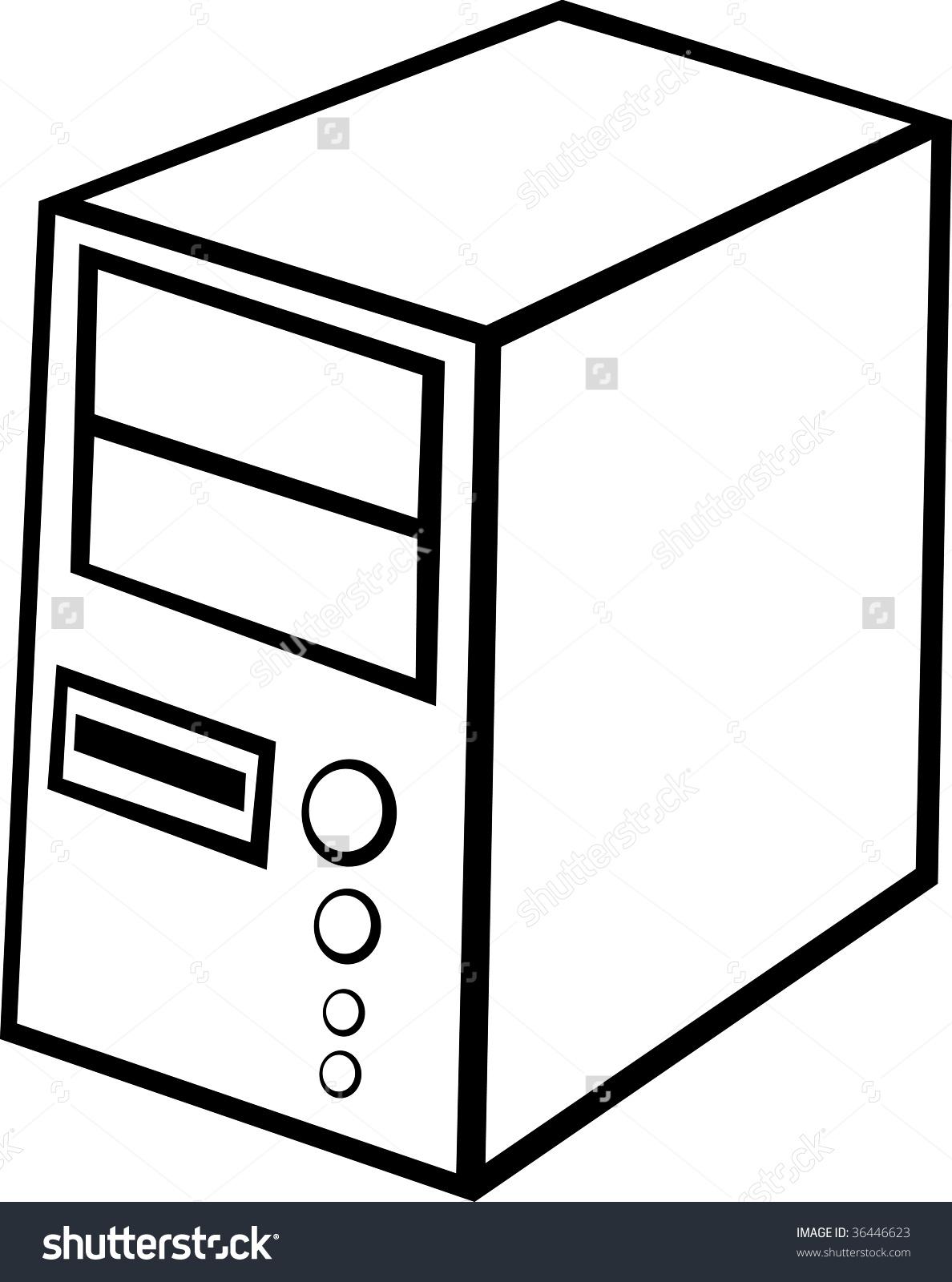 Computer case clipart. Cpu images clipartfest black