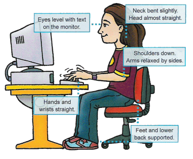Computer clipart for kids keyboard posture freeuse stock October: Keyboarding - Mr. Gerancher freeuse stock