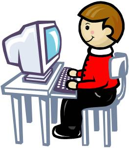 Computer clipart for kids keyboard posture banner library stock Computer / Keyboarding & Typing banner library stock