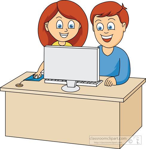 Clipartfest classroom . Computer clipart with kids
