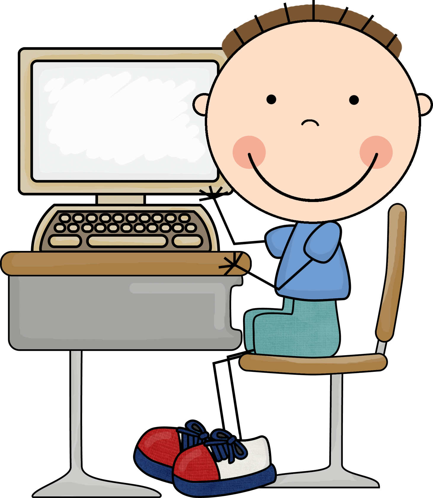 School computer clipart vector free 28+ Collection of Computer Class Clipart For Kids | High quality ... vector free