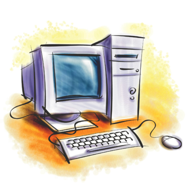 Computer cliparts picture black and white library Desktop Computer Image Computer Clipart | Free Images at Clker.com ... picture black and white library