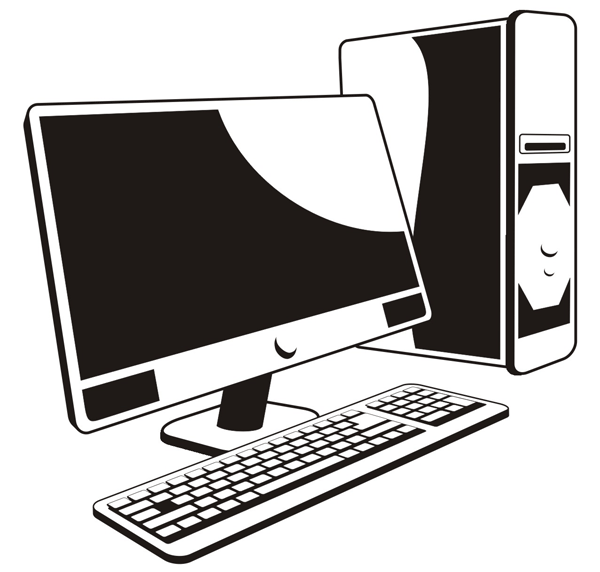 Vector file of computer copyright free clipart clip stock Free Free Computer Cliparts, Download Free Clip Art, Free Clip Art ... clip stock