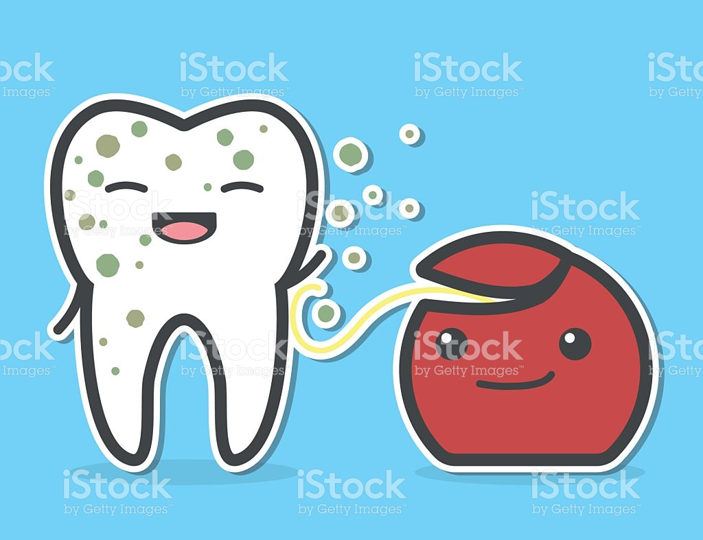 Computer dirty media clipart clip freeuse Dental Floss Cleaning Dirty Tooth stock vector art 537825062 | iStock clip freeuse