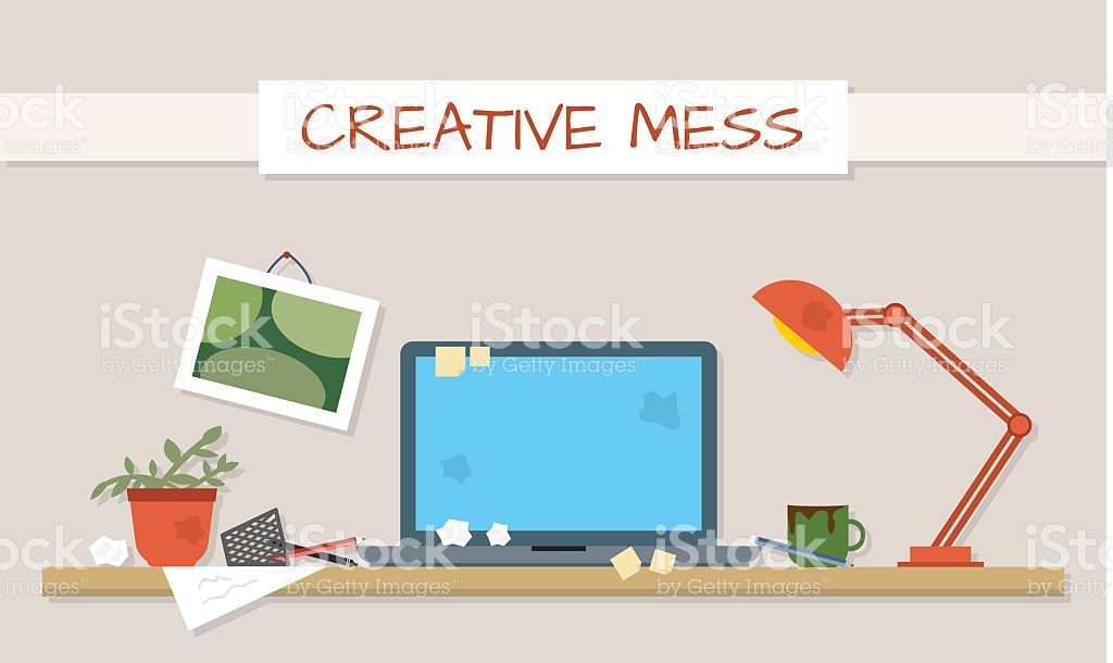 Computer dirty media clipart picture free Dirty And Clean Work Table stock vector art 481024572 | iStock picture free