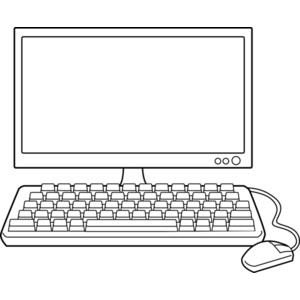 Computer in clipart clipart royalty free library Free clipart black and white computer - ClipartFest clipart royalty free library
