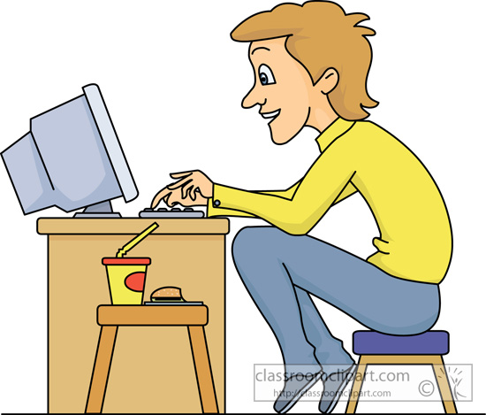 Computer in clipart image royalty free stock Sitting At Computer Clipart - Clipart Kid image royalty free stock