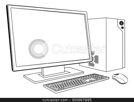 Computer in clipart svg library stock Computer in clipart - ClipartFest svg library stock