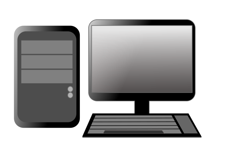 Computer in clipart png black and white Computer in clipart - ClipartFest png black and white