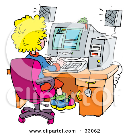Computer in clipart image freeuse download Royalty-Free (RF) Computer Lab Clipart, Illustrations, Vector ... image freeuse download