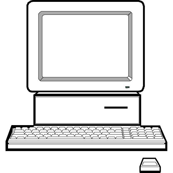 Computer in clipart clip art black and white Computer in clipart - ClipartFest clip art black and white