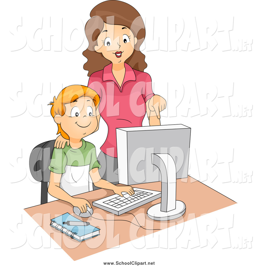Computer in school clipart clip art library library Royalty Free Female Stock School Designs clip art library library