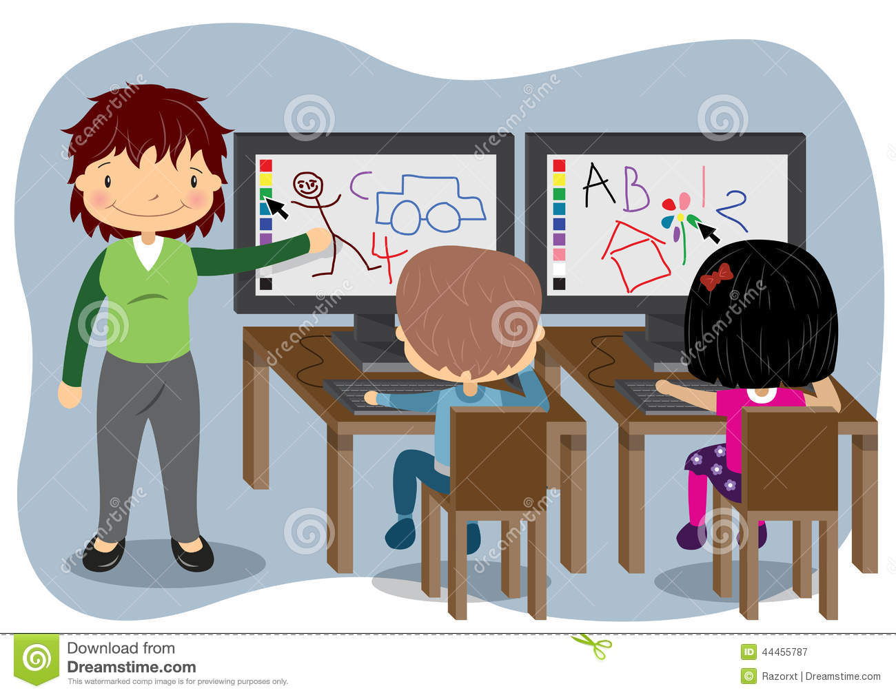 Computer in school clipart clip transparent download Computers in school clipart - ClipartFest clip transparent download