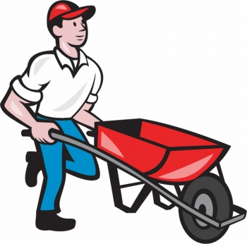Ingimage cheap royalty free. Computer in wheelbarrow clipart
