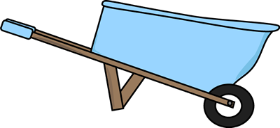 Clip art image empty. Computer in wheelbarrow clipart