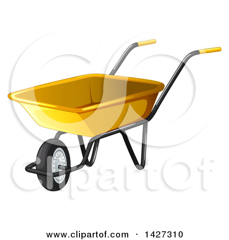 Royalty free rf illustrations. Computer in wheelbarrow clipart