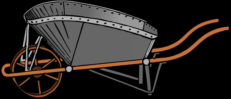 Computer in wheelbarrow clipart graphic black and white download Wheelbarrow Clip Art Download graphic black and white download