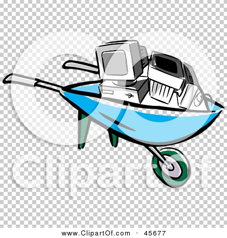 Computer in wheelbarrow clipart picture free stock Computer in wheelbarrow clipart - ClipartFest picture free stock